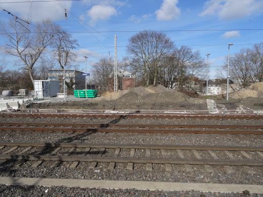 Gleise 1 und 3 im Umbau